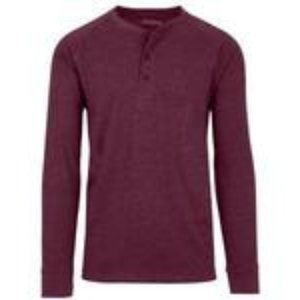 Men's Long-Sleeve Marled Henley Tee